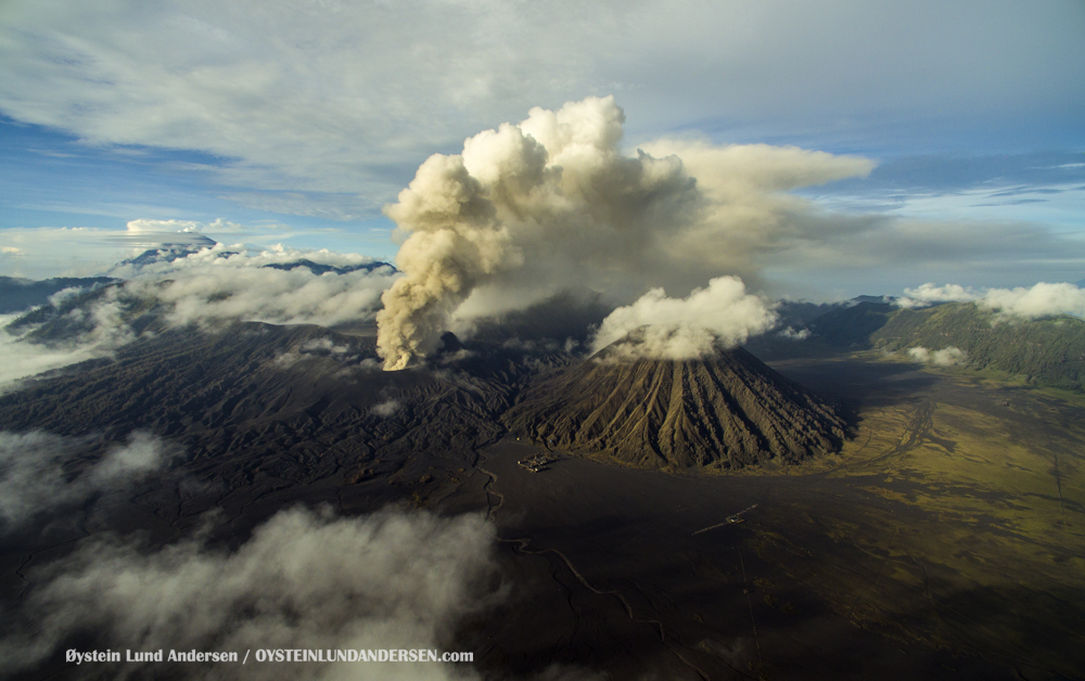 Bromo Eruption February 2016 volcano Indonesia Dji Phantom Aerial photography