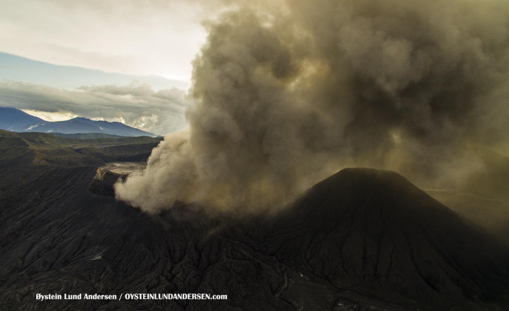 aerialBromo Volcano Eruption 2016 February 2016 Indonesia