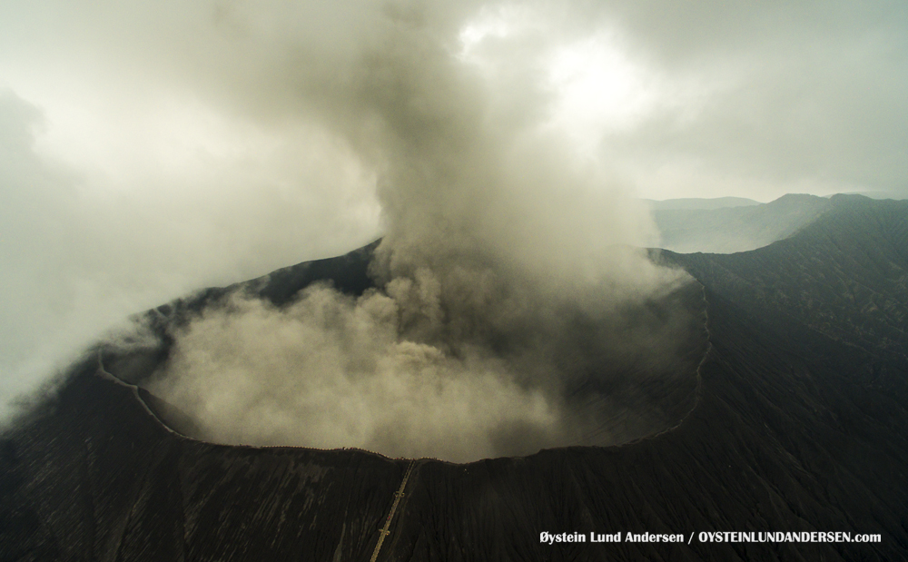 Bromo Tengger Indonesia Eruption February 2016 Aerial