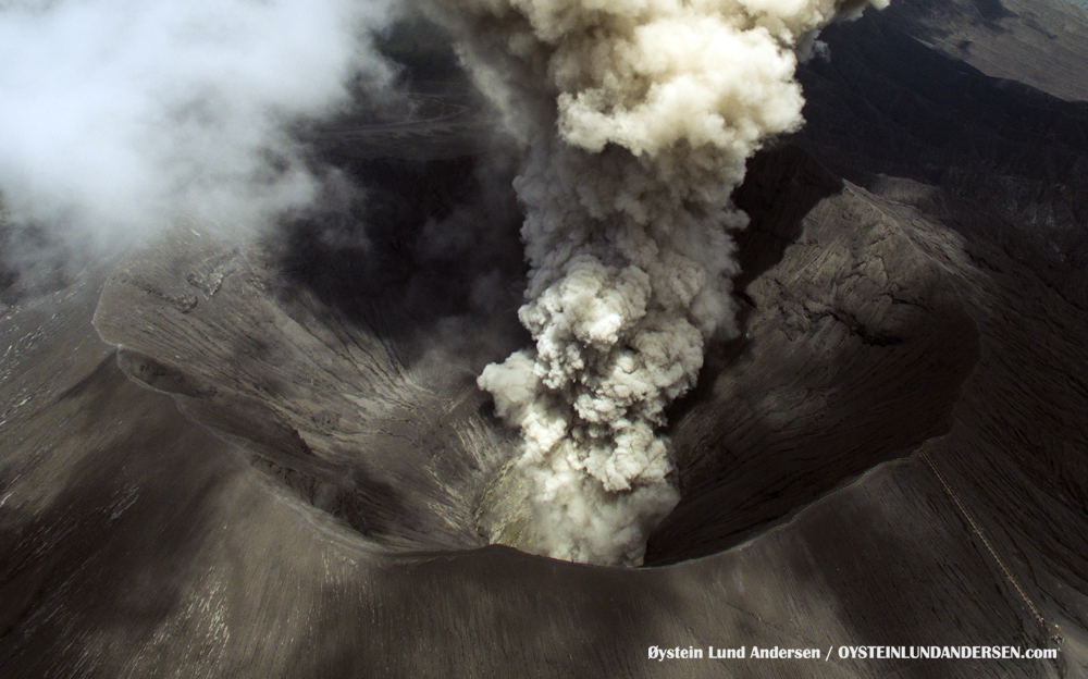 aerial drone uav Bromo Tengger Indonesia Eruption Volcano April 2016