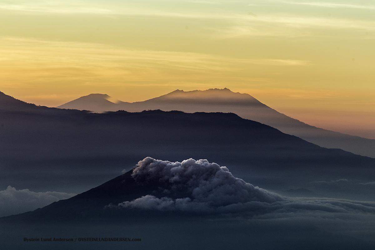 Raung Volcano Ijen Indonesia june 2016