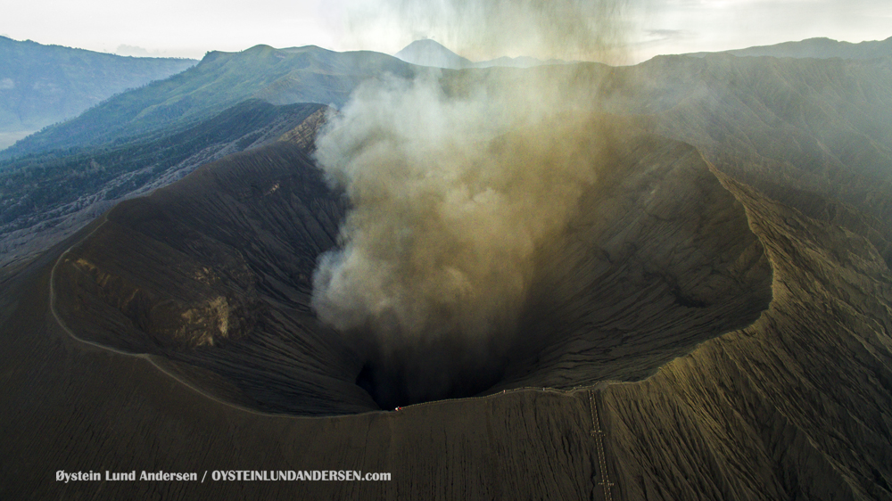 Aerial Phantom Bromo Eruption 2016 Tengger Indonesia Eruption Volcano June 2016