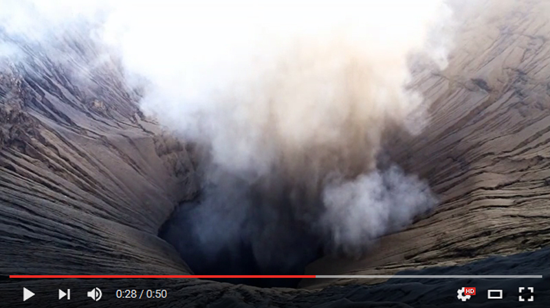 Bromo-eruption-june-2016-video