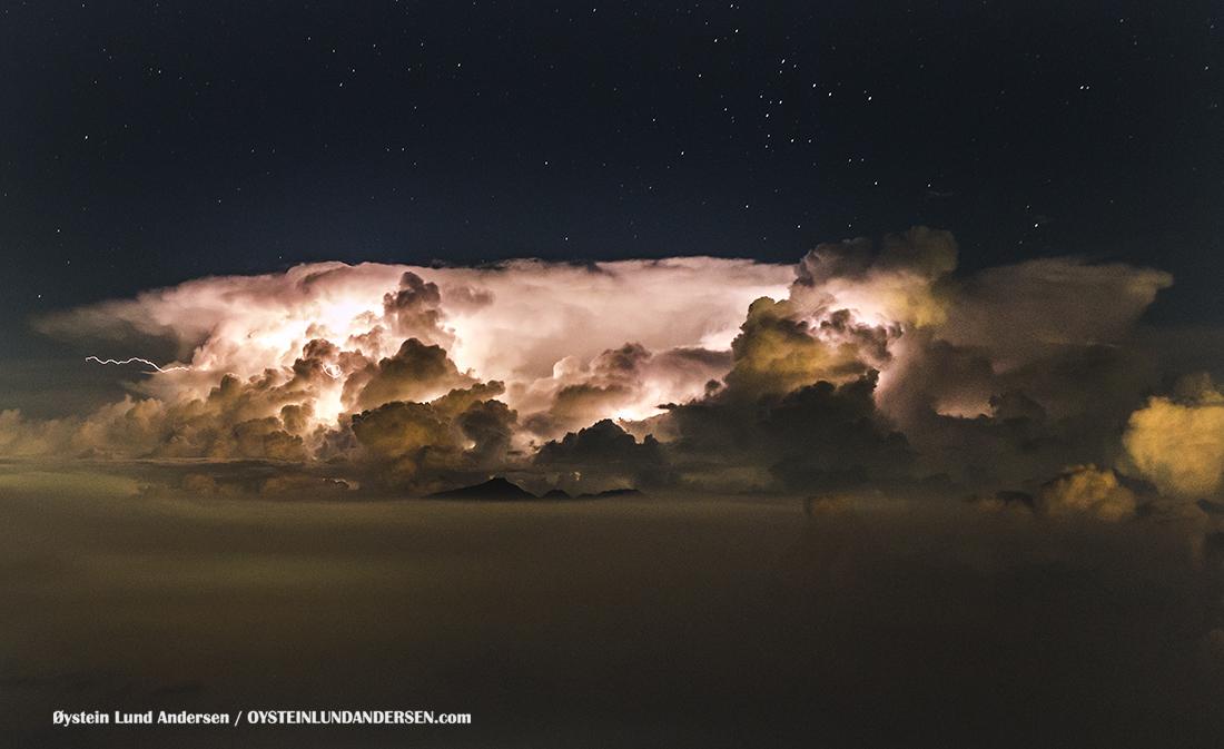 Thunderstorm Bromo Tengger Java Indonesia july 2016 Volcano Geology Oystein Andersen
