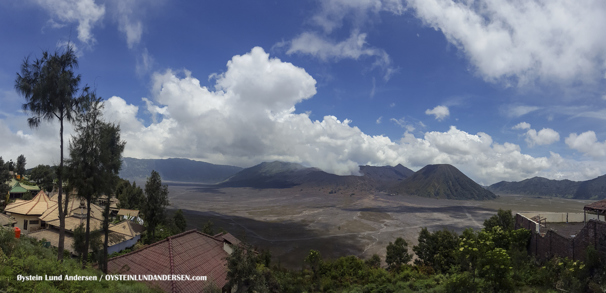 Aerial Cemara Lawang Bromo Tengger Volcano Indonesia Eruption September-2016