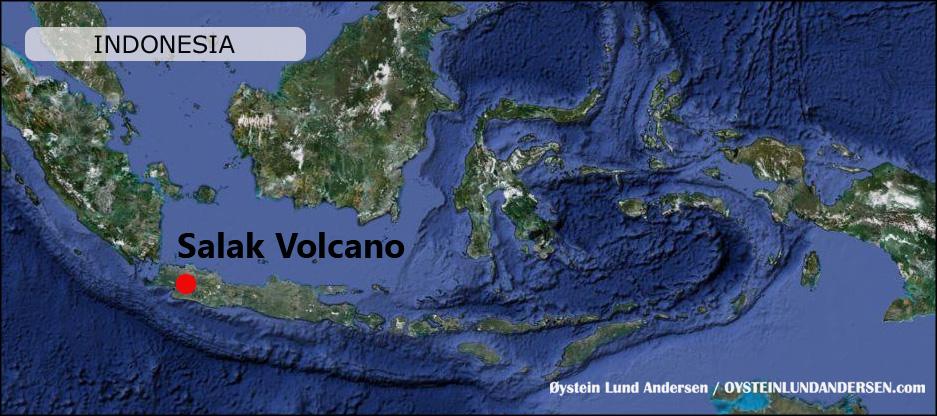 Peta Map Salak Volcano Gunung Mountain Bogor