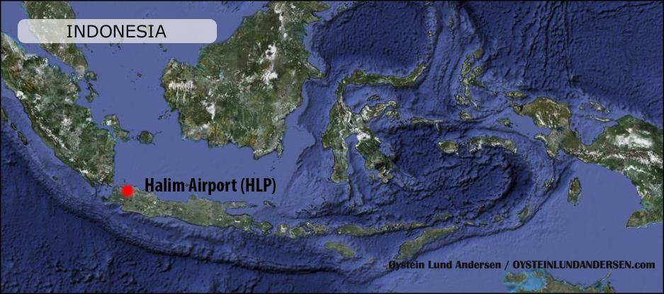 Halim Jakarta Airport Peta Map Indonesia