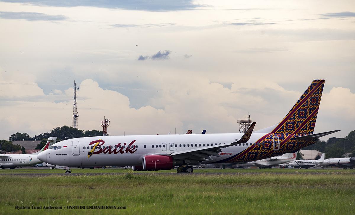 batik-air b737-800 pk-lby Halim Airport HLP Jakarta Indonesia Spotting 2016