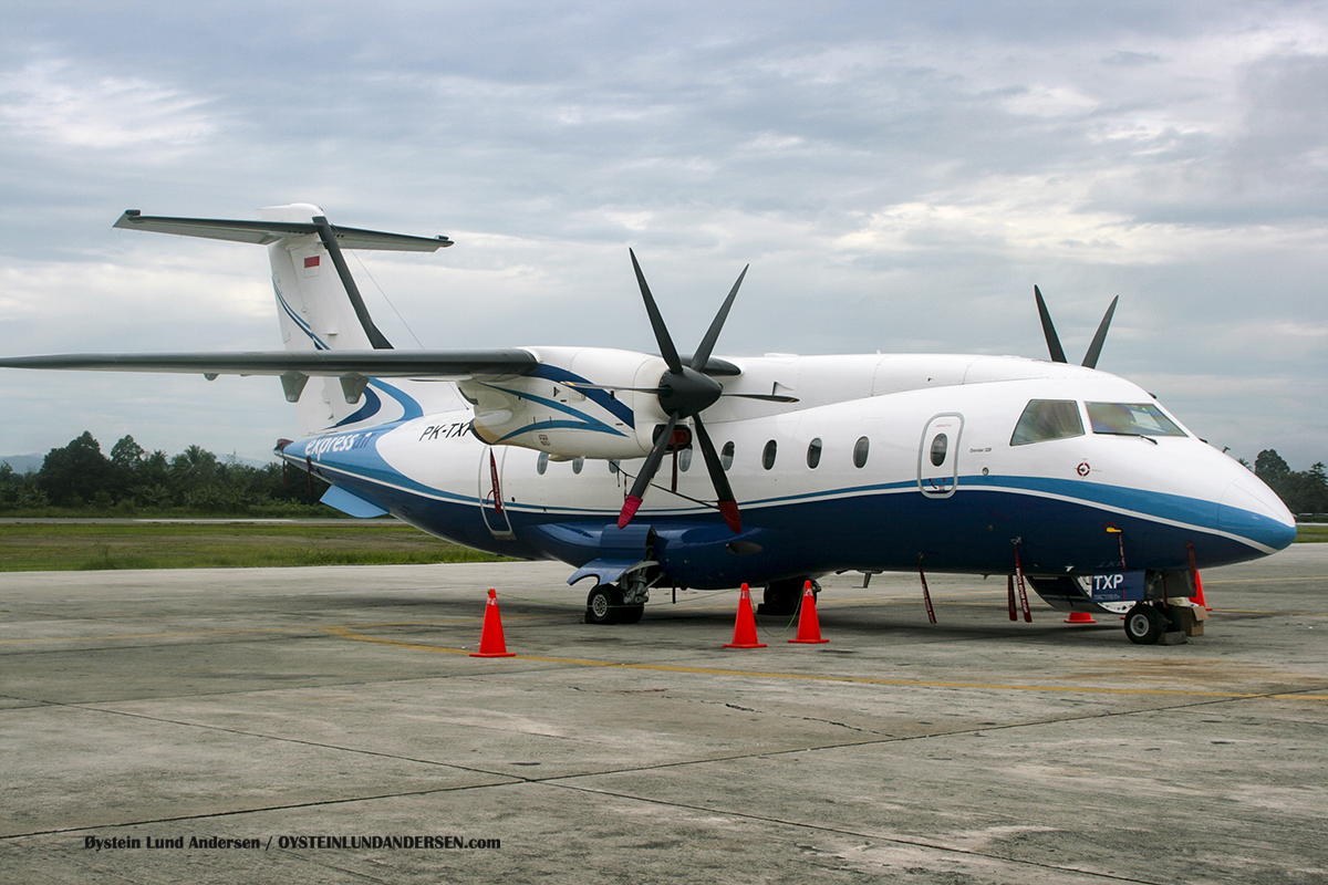 Express air Dornier-328 (PK-TXP) 2009 sentani airport jayapura spotting