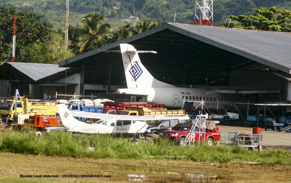 Trigana ATR-72 (PK-YRI) ATR-72 (PK-YRY) Trigana sentani airport jayapura djj spotting