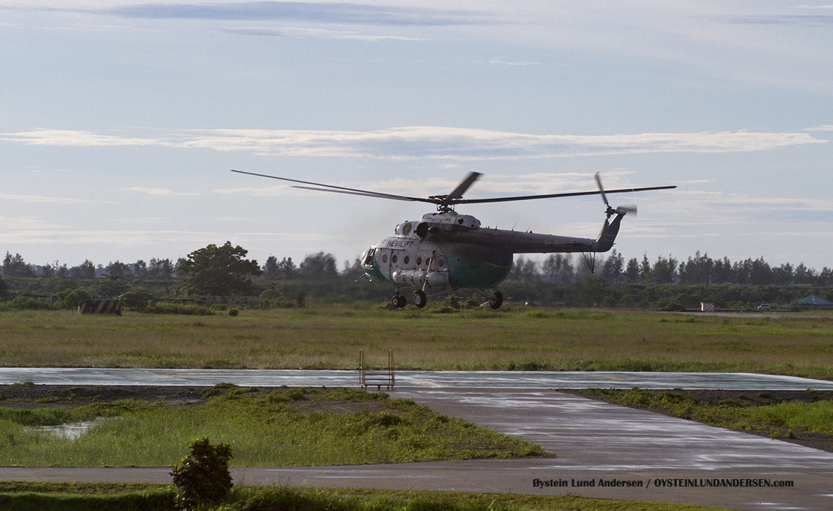 Hevilift MI-8 2012 timika airport papua spotting