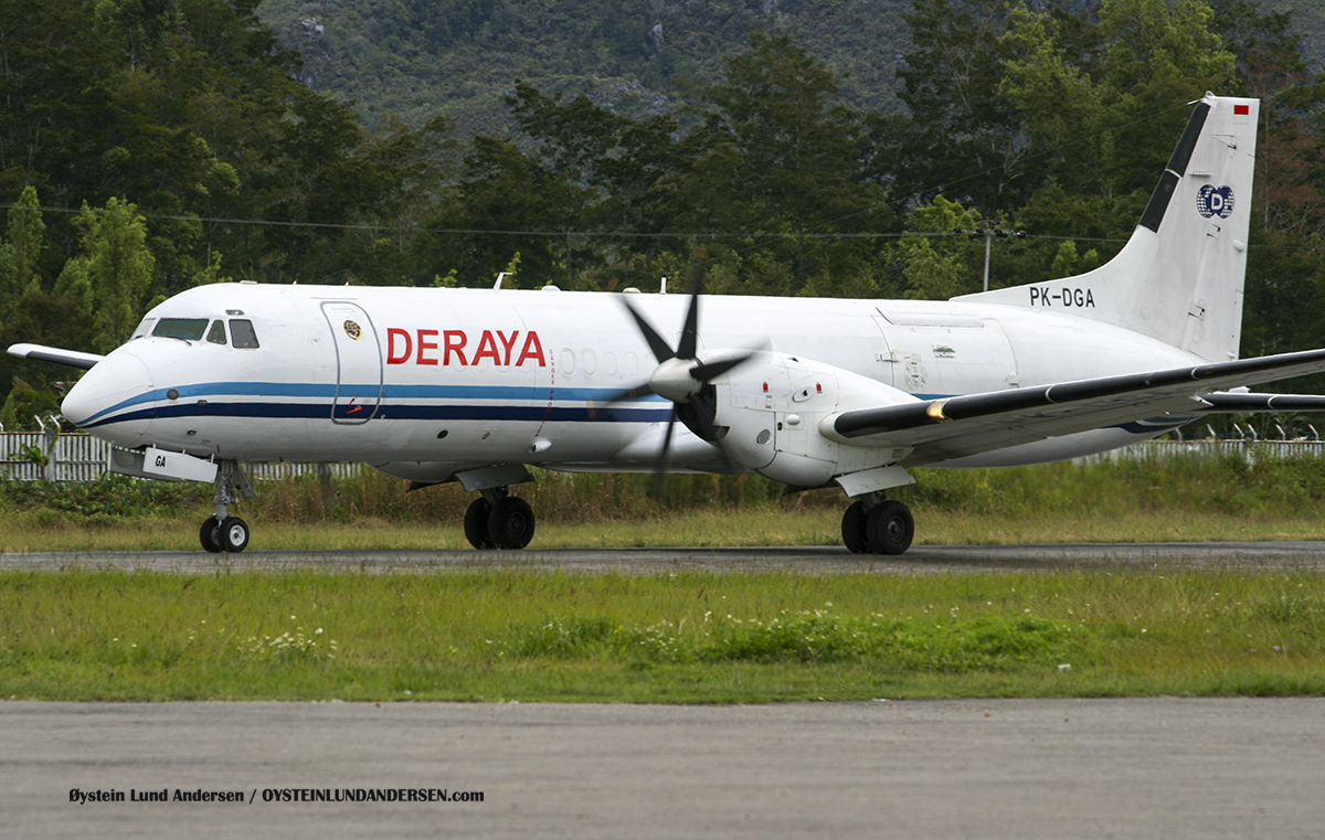 BAE ATP (PK-DGA) Wamena airport papua spotting
