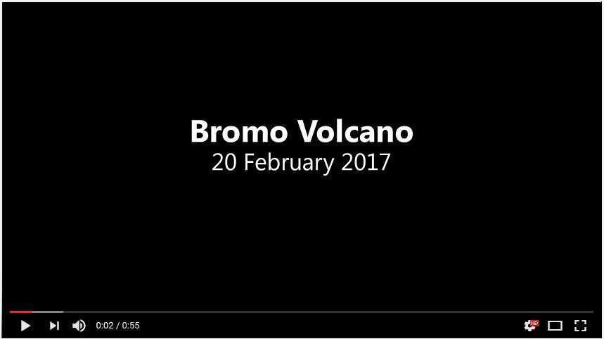 Bromo aerial video crater volcano dji 2017