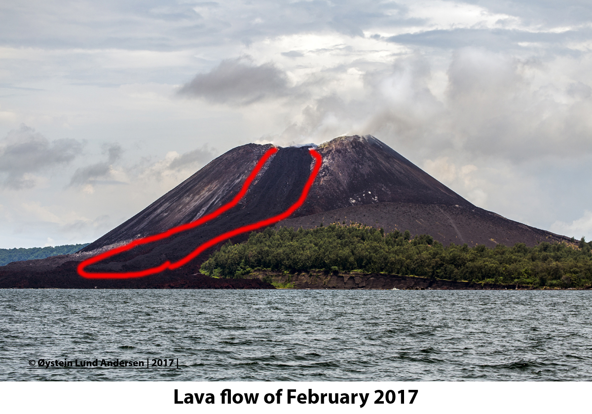 Anak Krakatau Lava Flow 2017
