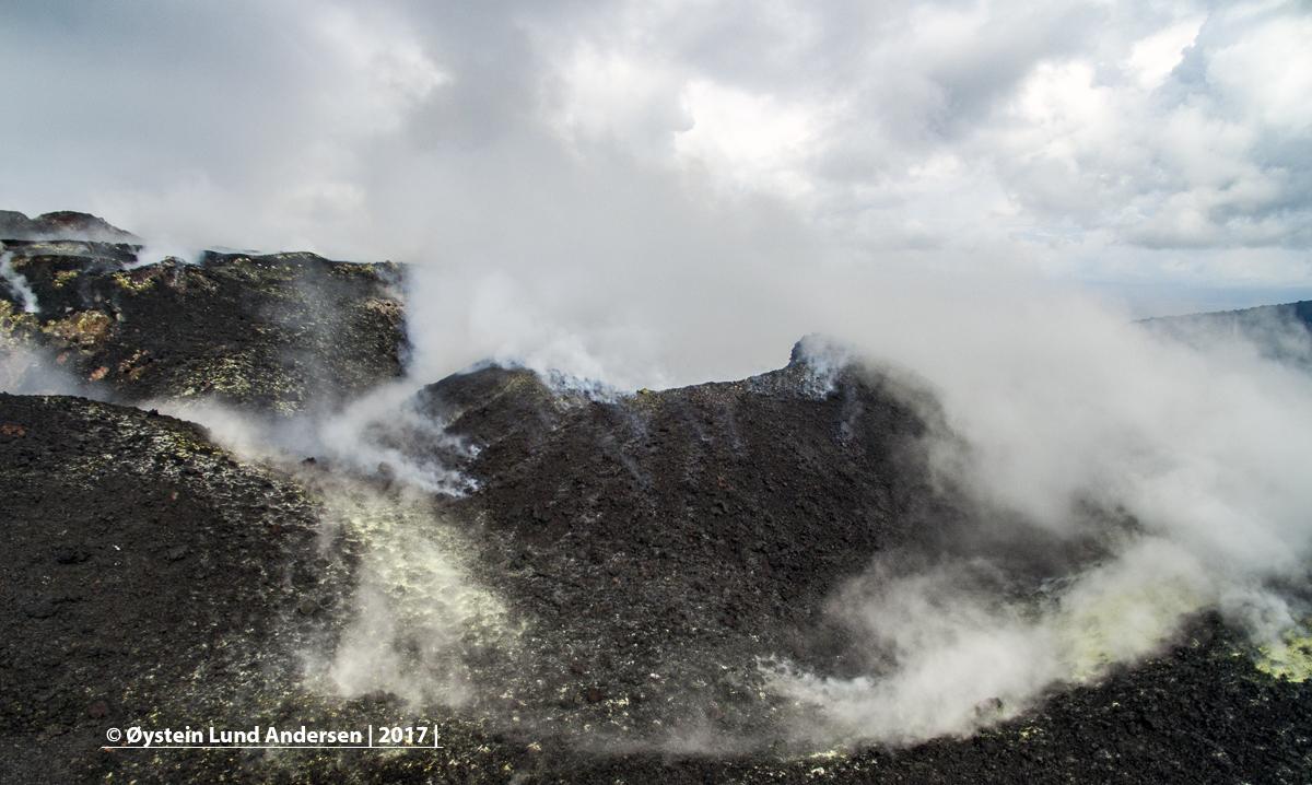 Aerial Krakatau 2017 volcano sunda java andersen
