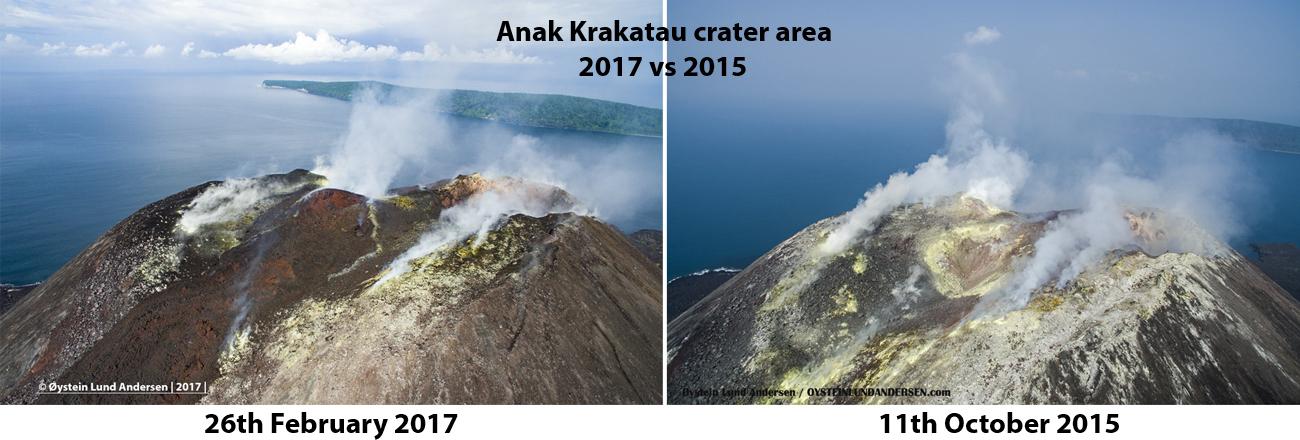Krakatau crater 2017 lava flow andersen