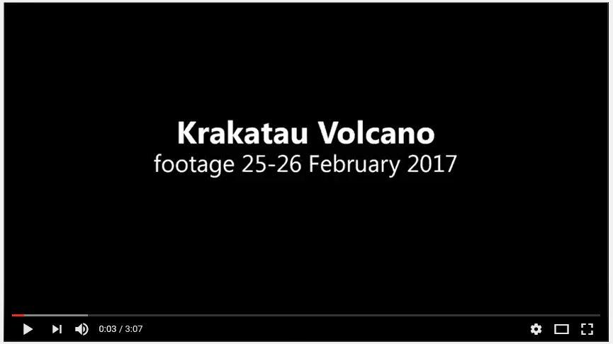 krakatau volcano aerial video dji aerial 2017 crater lava