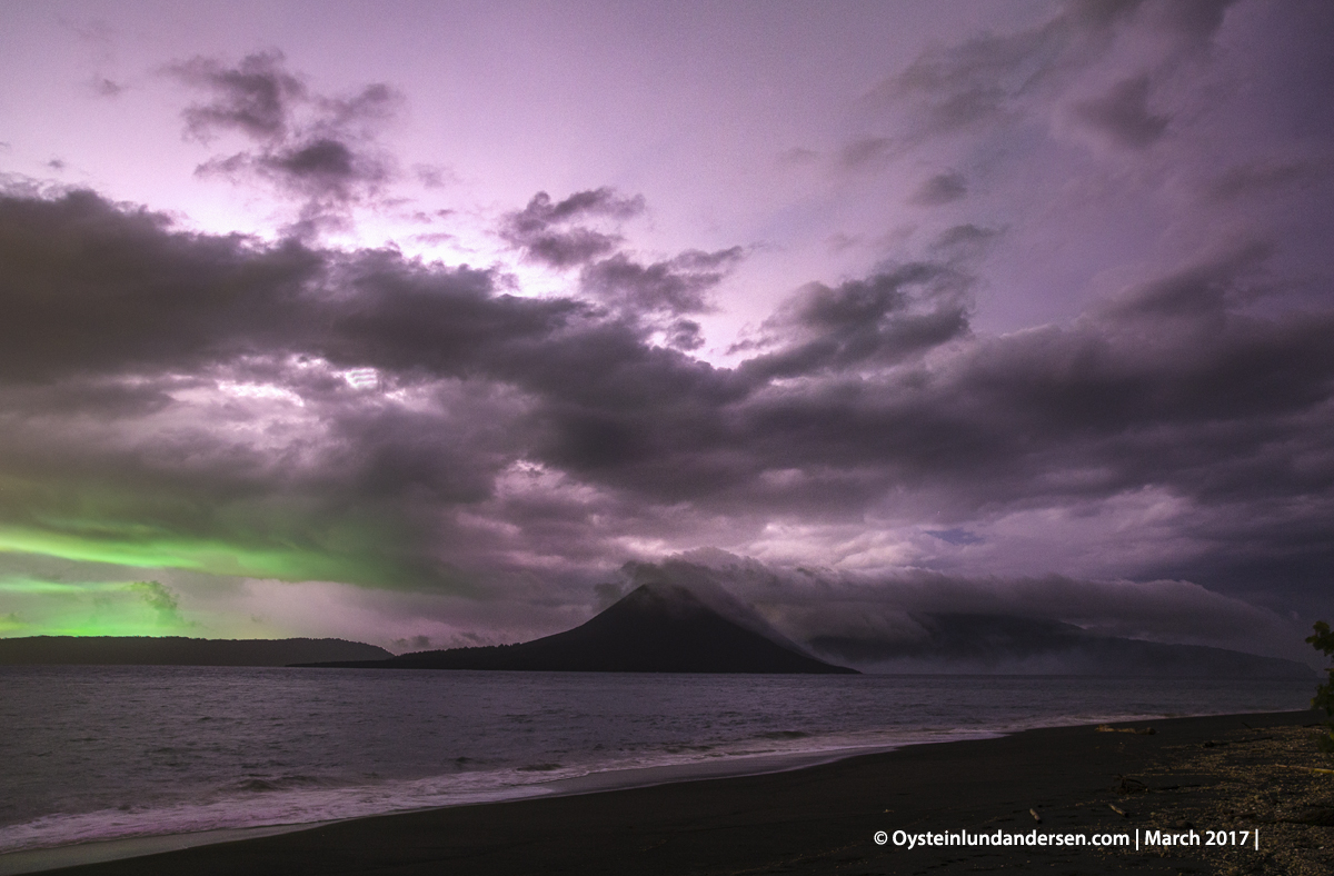 2017 march Krakatau thunderstorm night lightining