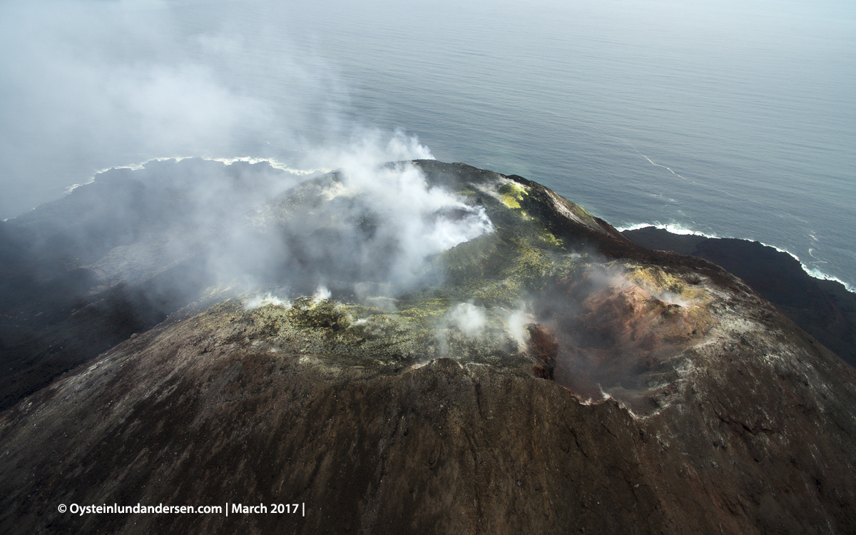 2017 march aerial DJI drone Krakatau Anak Krakatau Indonesia Volcano Andersen