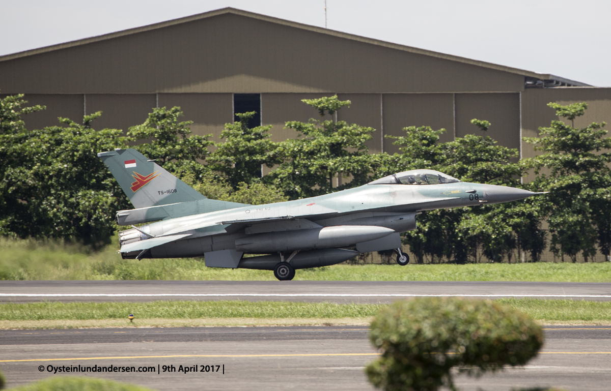 Indonesian Airforce TNI 2017 Halim F16 (TS-1608)