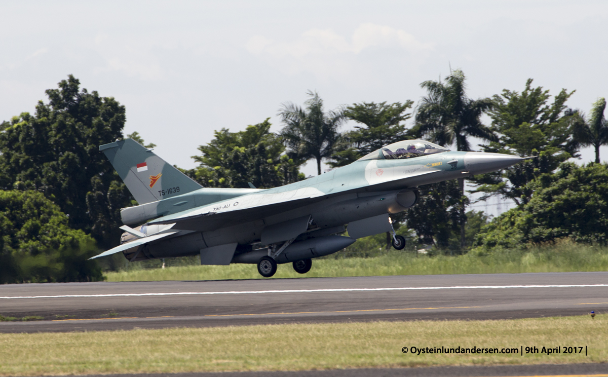 Indonesian Airforce TNI 2017 Halim F16 (TS-1639)