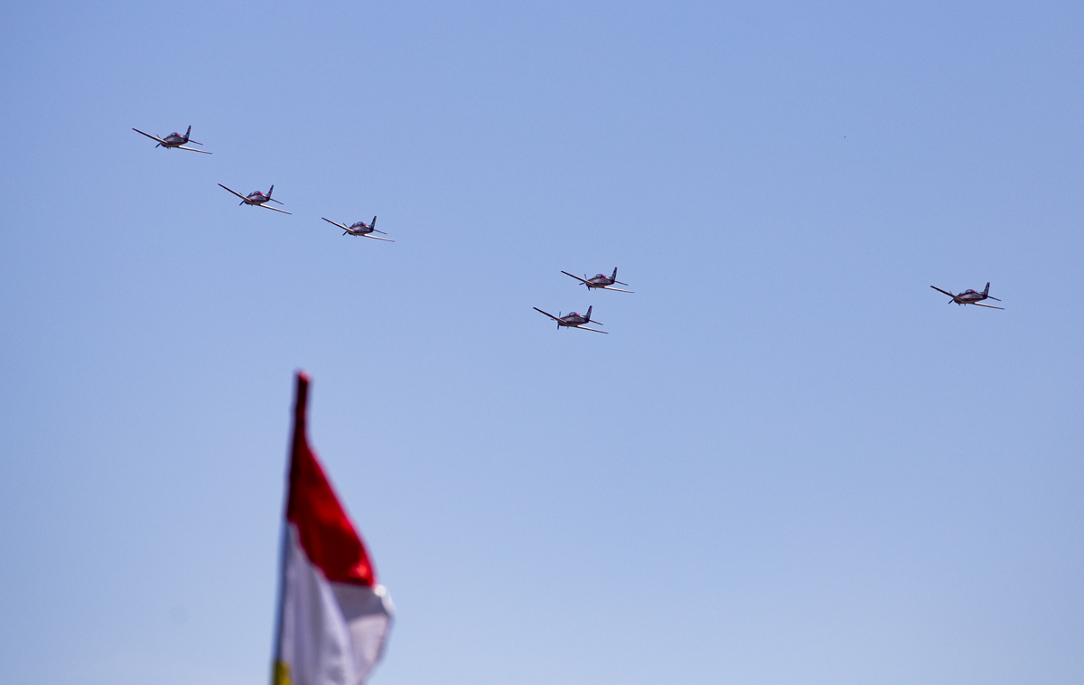 Indonesian Airforce TNI 2017 Halim Jakarta Indonesian Airforce TNI 2017 Jakarta KT-1B formation