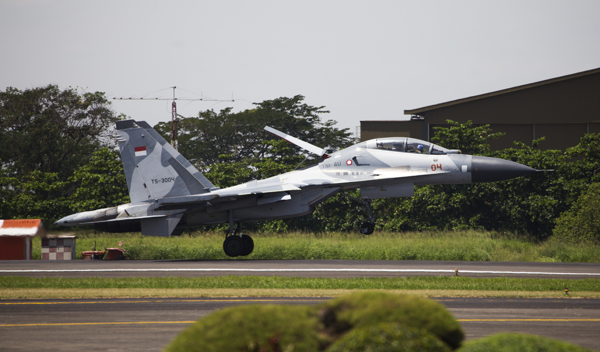 Indonesian Airforce TNI 2017 Halim Sukhoi 30 (TS-3004)