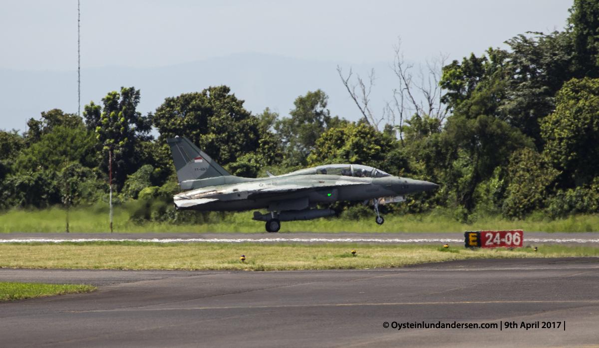 Indonesian Airforce TNI 2017 Halim Jakarta T-50 landing.