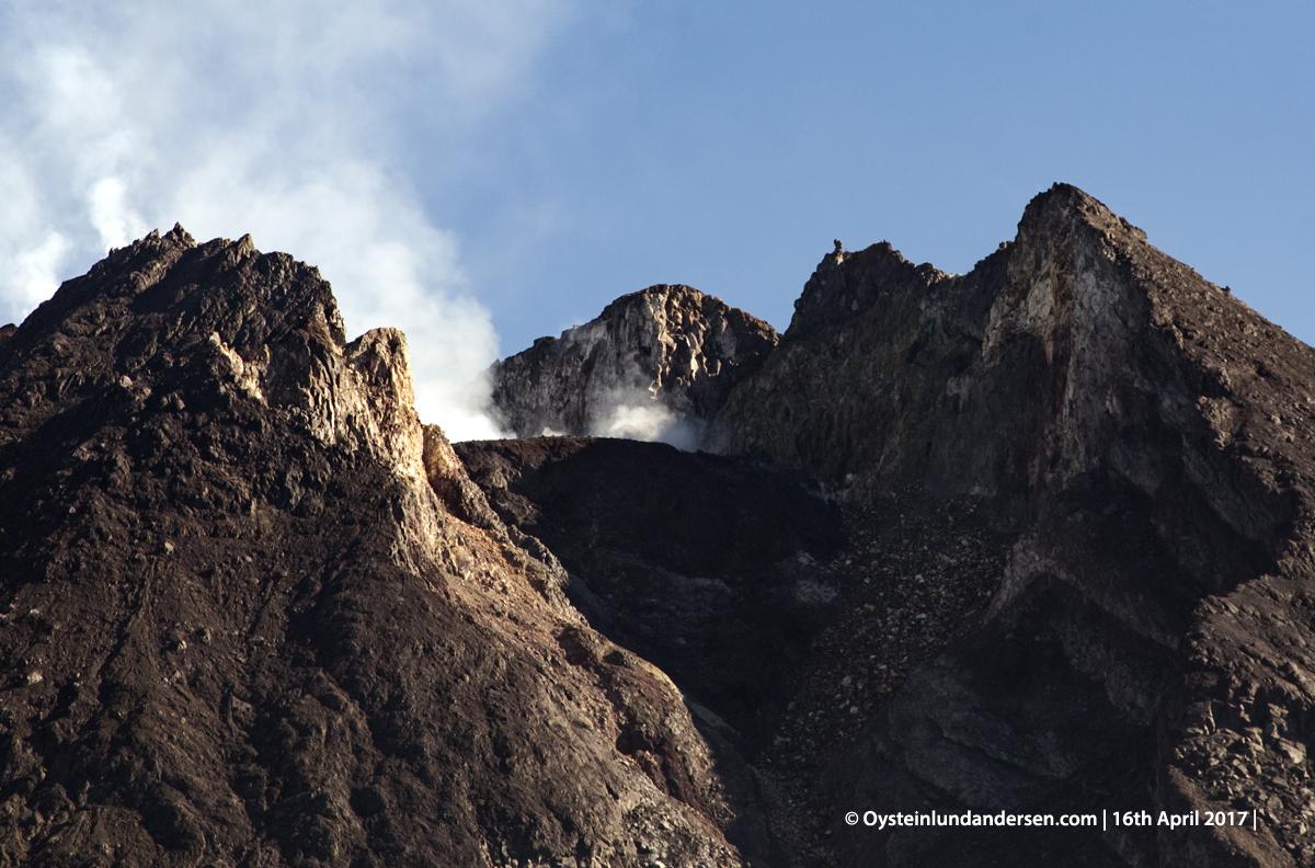 Merapi Volcano Crater Central-Java Yogyakarta 2017