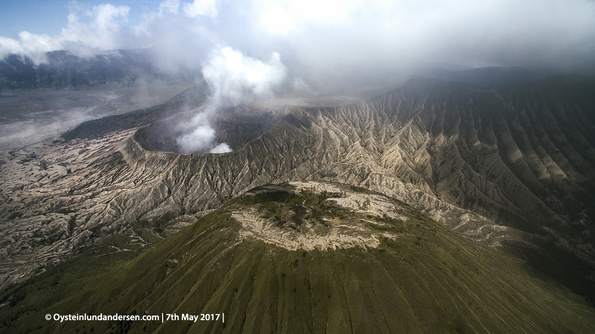 Bromo Batok volcano tengger Indonesia java DJI phantom 2017 aerial