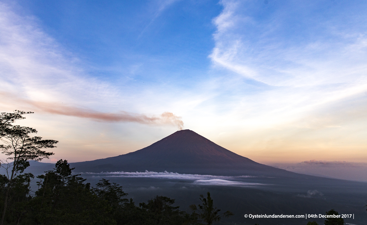 Agung volcano Bali Indonesia December 2017