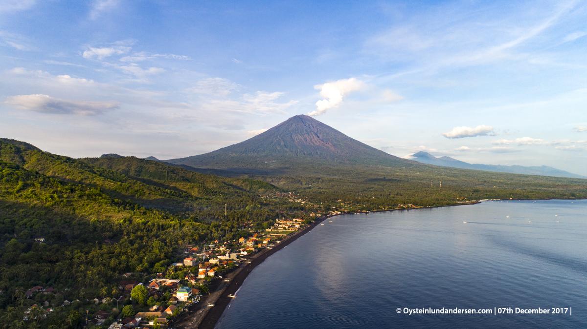 Agung volcano Bali Indonesia December 2017 Aerial DJI Phantom Drone Aerial