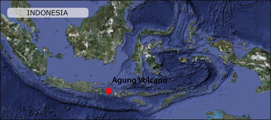 Map Peta Agung Volcano Gunung Agung