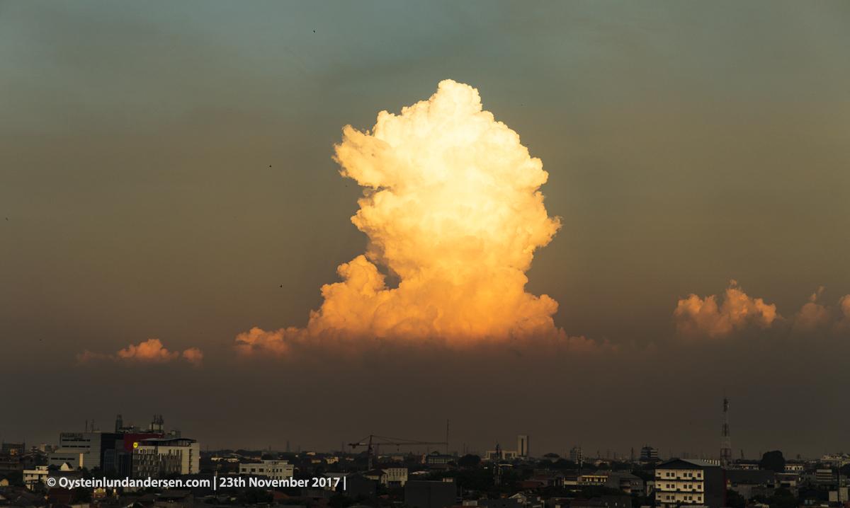Cumulus congestus, towering cumulus, jakarta, indonesia 2017