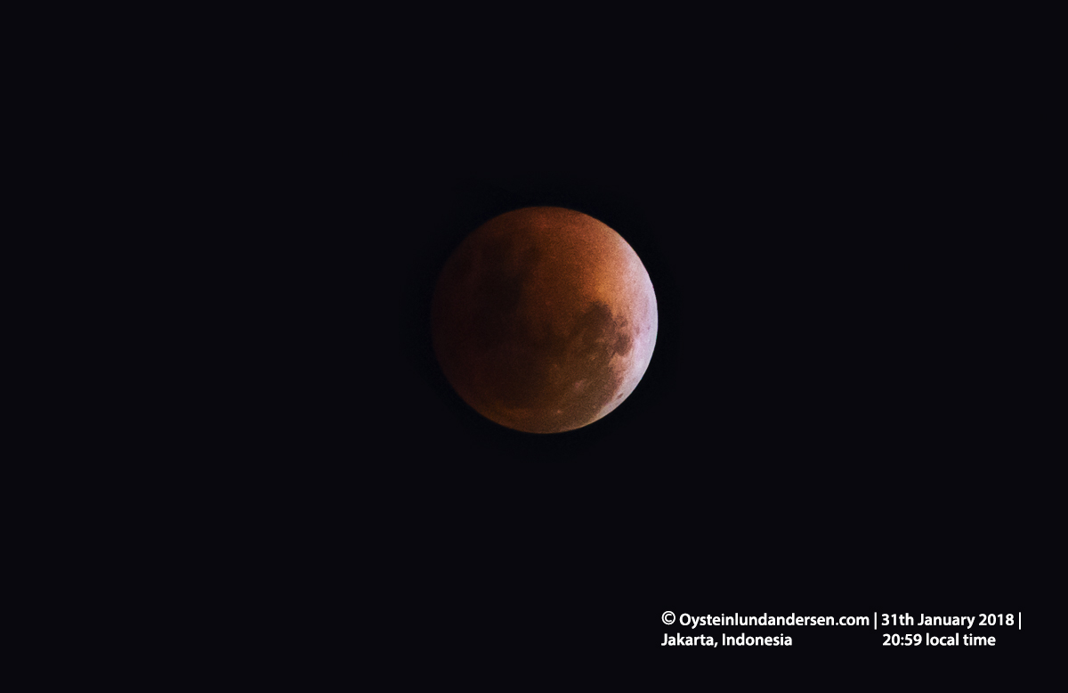 SuperBlueBloodMoon 2018 Jakart Indonesia Java Lunar Eclipse