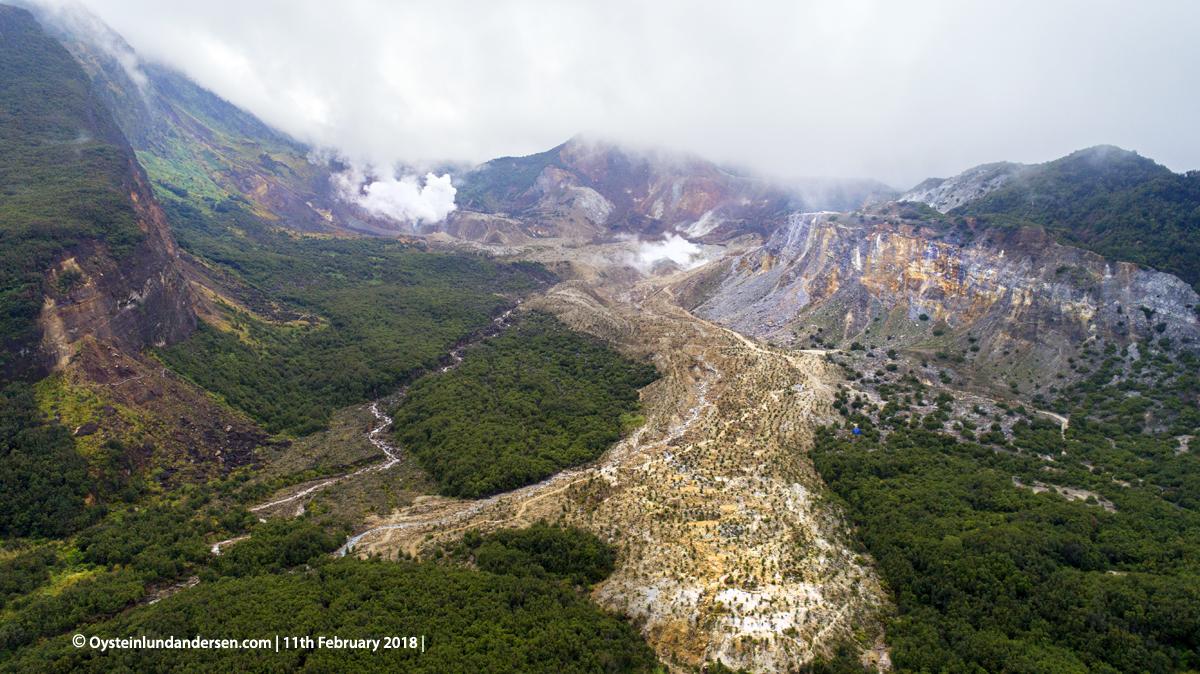 Papandayan Volcano Gunung Garut Indonesia 2018