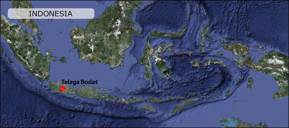 Telaga Bodas Peta Map Garut Java Indonesia