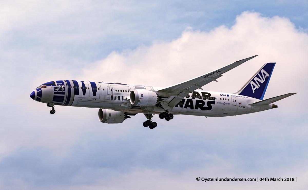 ANA, 787, dreamliner, star wars, R2-D2 Livery, Sukarno Hatta Jakarta, 2018, JA873A