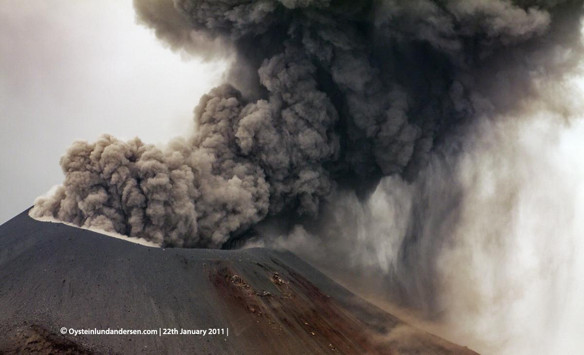 Krakatau Krakatoa Volcano eruption java indonesia anak-krakatau ash