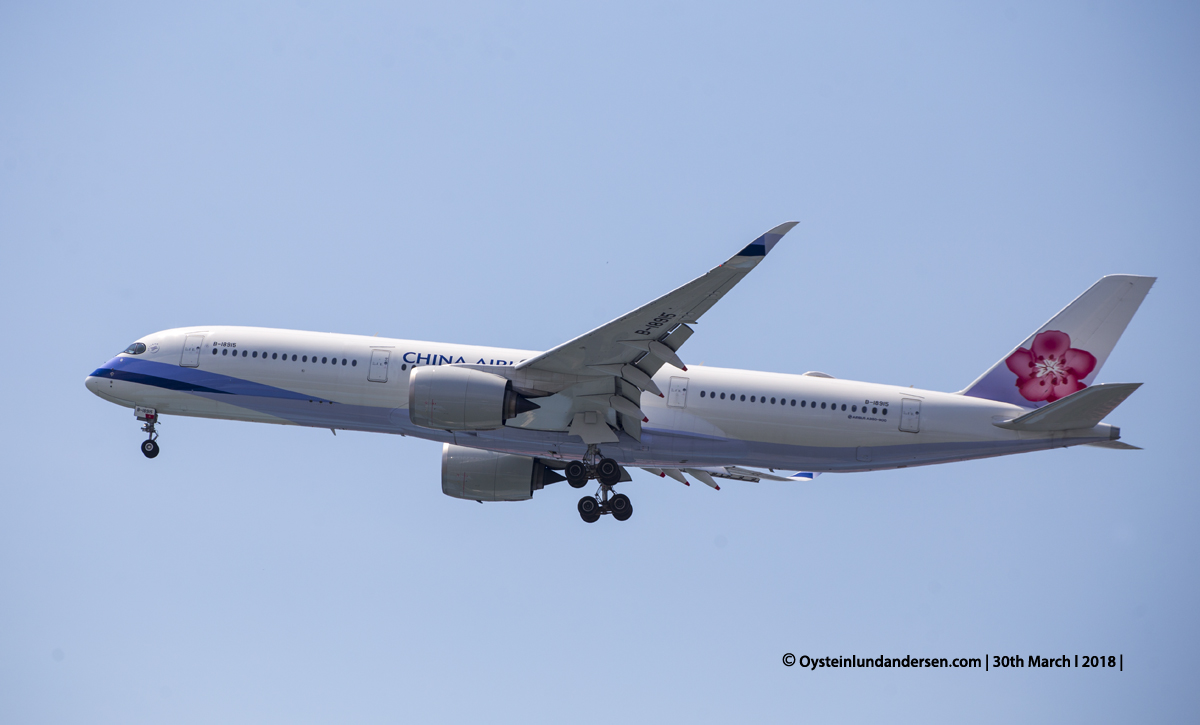 China Airlines Airbus 350-900 (B-18915)
