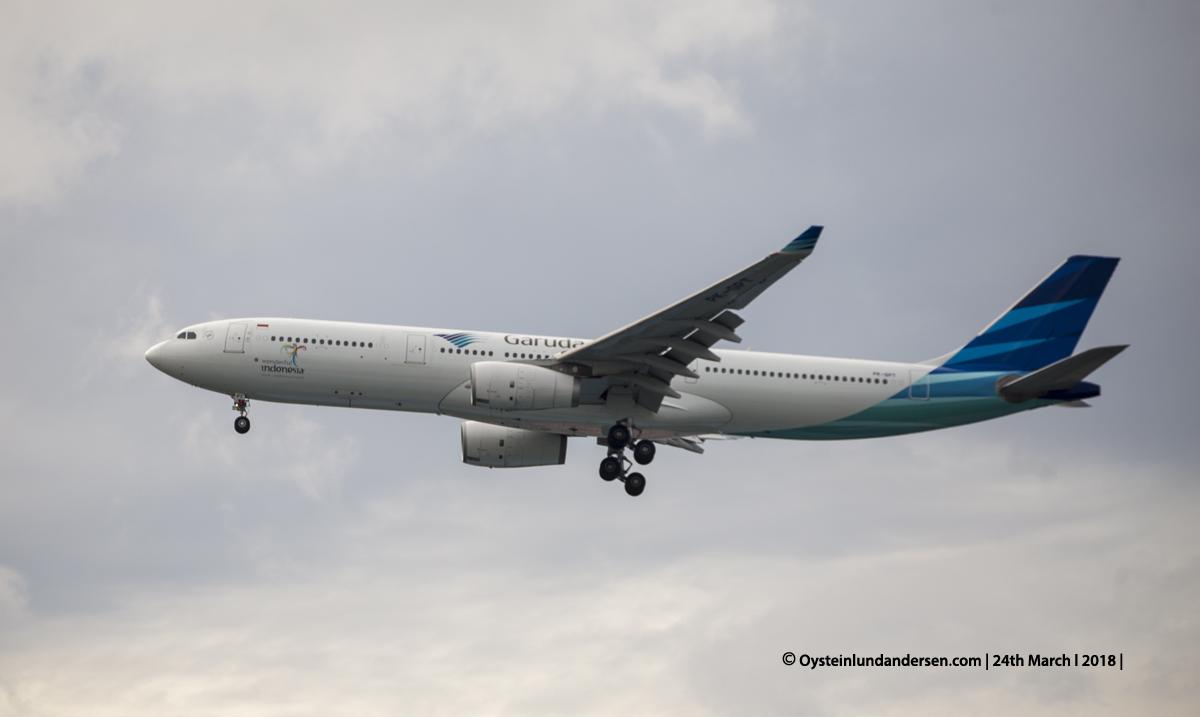 Jakarta airport CGK 2018 Airbus 330-300 PK-GPY