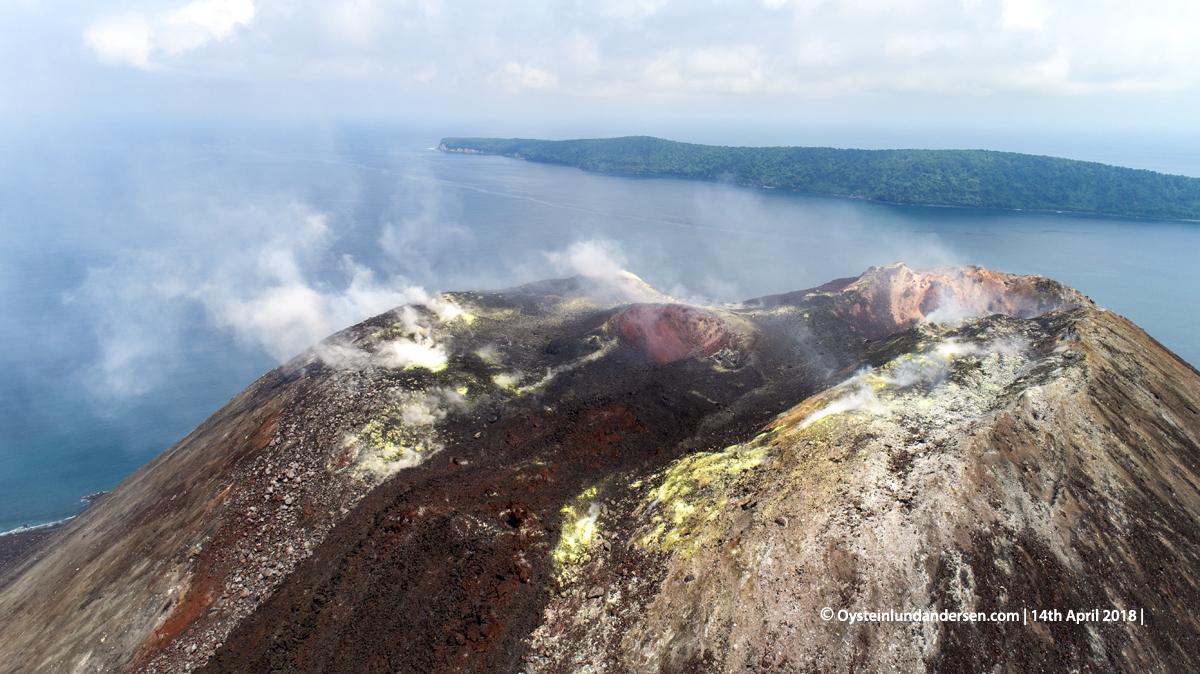 Anak-Krakatau, Krakatau, April, 2018, Volcano, Indonesia, Gunungapi,drone, aerial