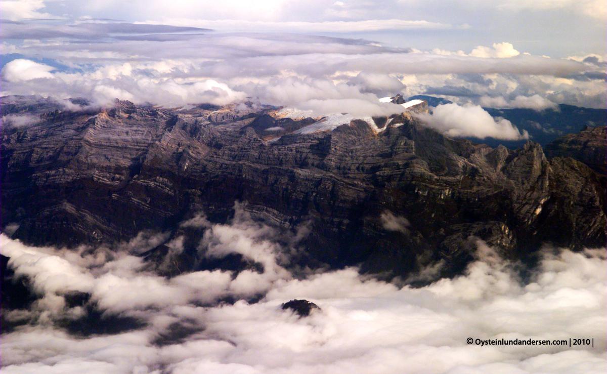 Puncak Jaya Tembagapura Papua Freeport Aerial Sudirman Range Carstensz Pyramid