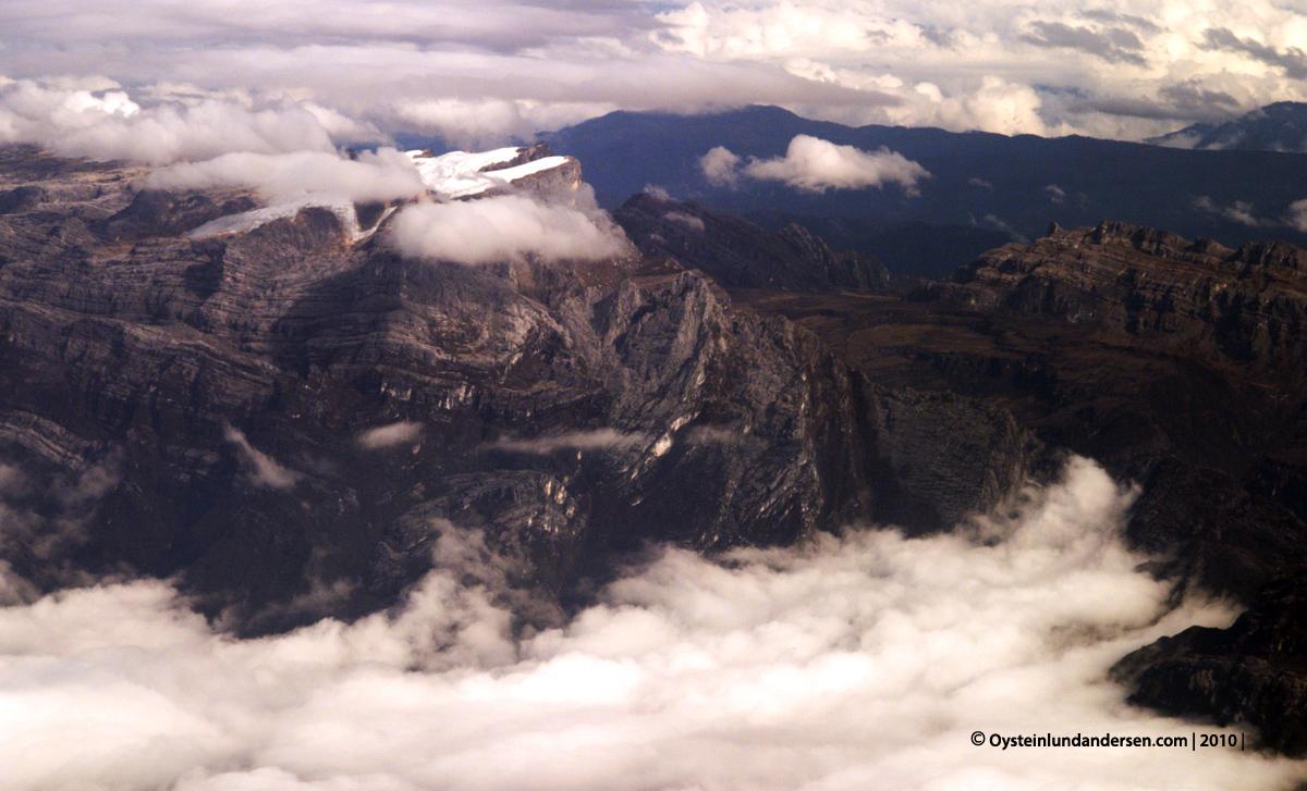 Puncak Jaya Tembagapura Papua Freeport Aerial grasberg