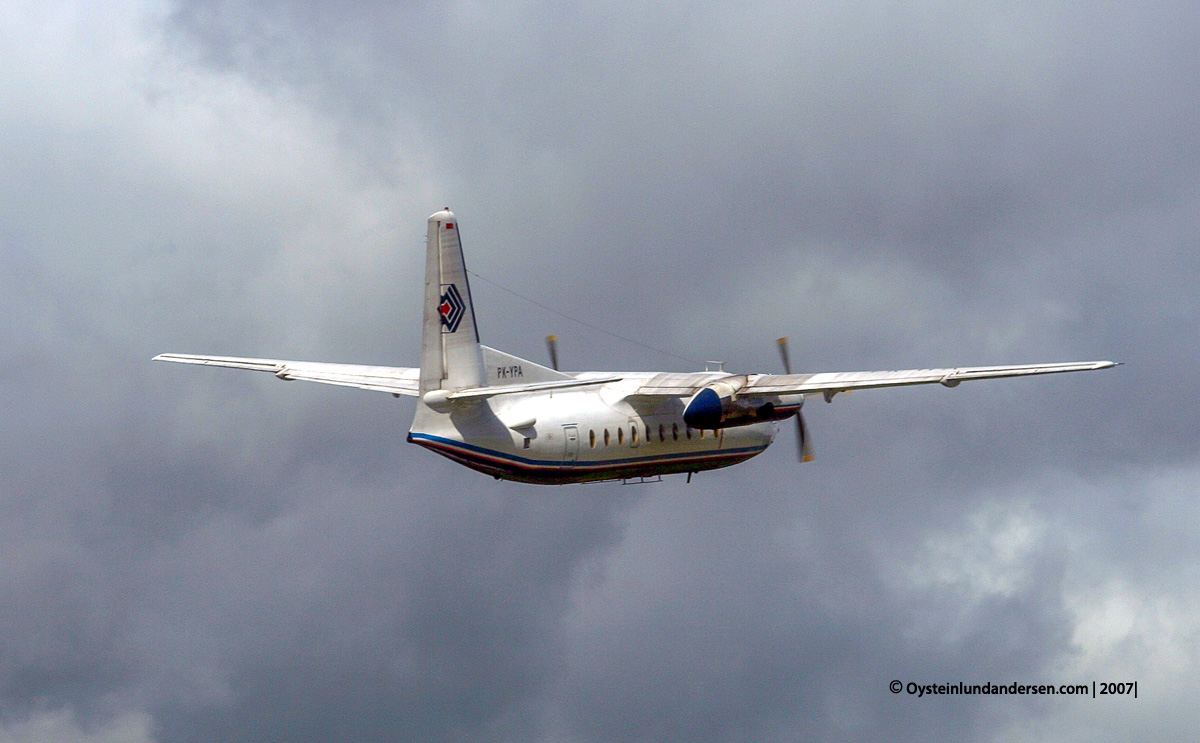 PK-YPA PK-YRA Fokker-27 Jayapura Sentani Papua avgeek