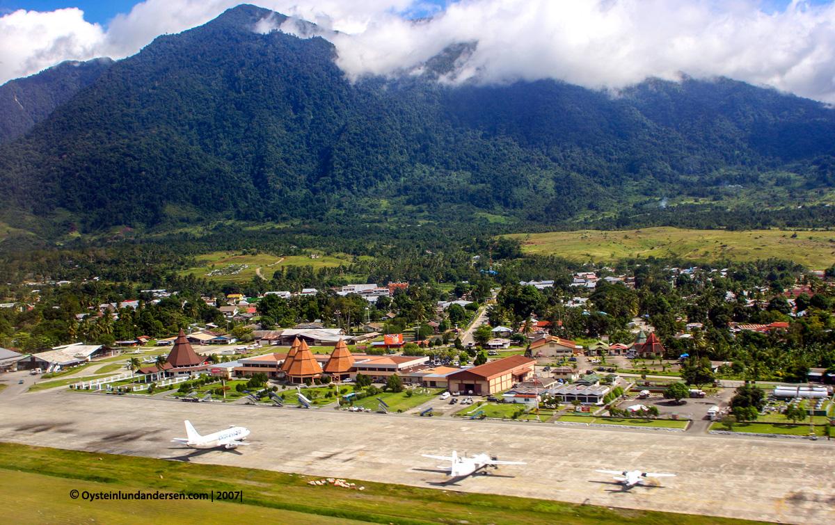 Jayapura Sentani airport papua aerial