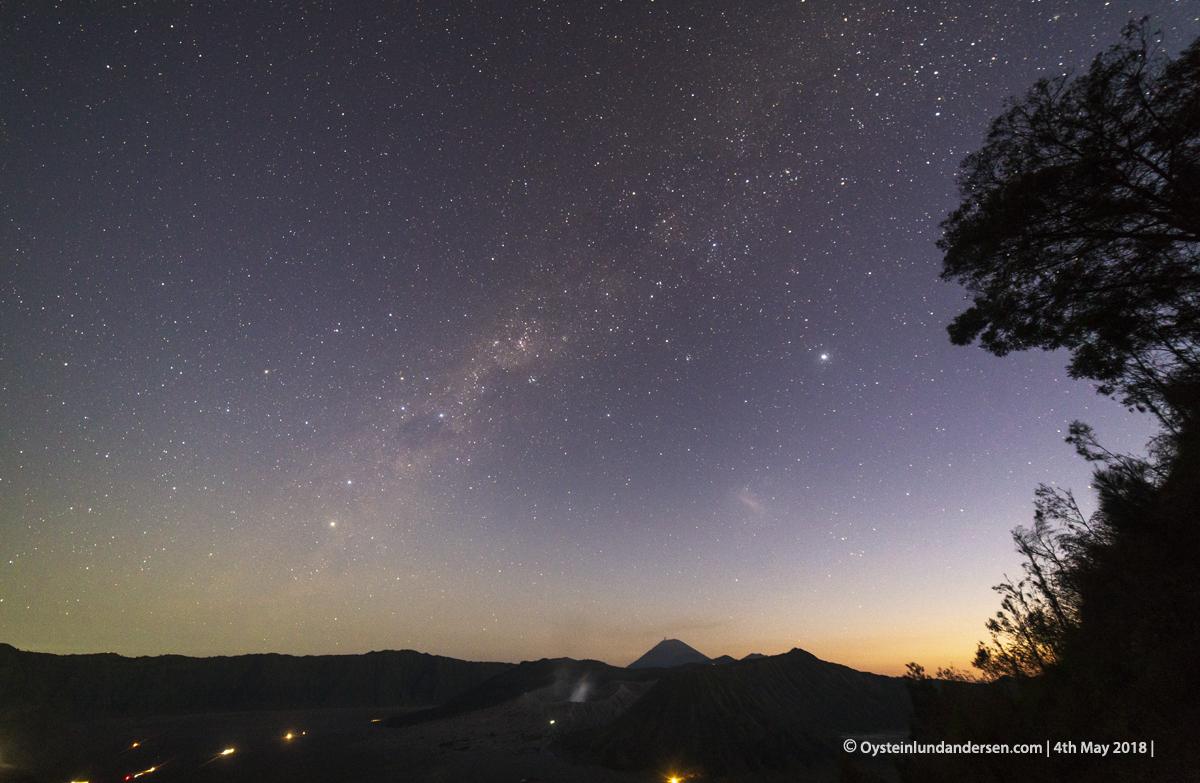 stars Bromo Volcano Gunung Bromo Indonesia 2018 vulkan Bromo Tengger East-java
