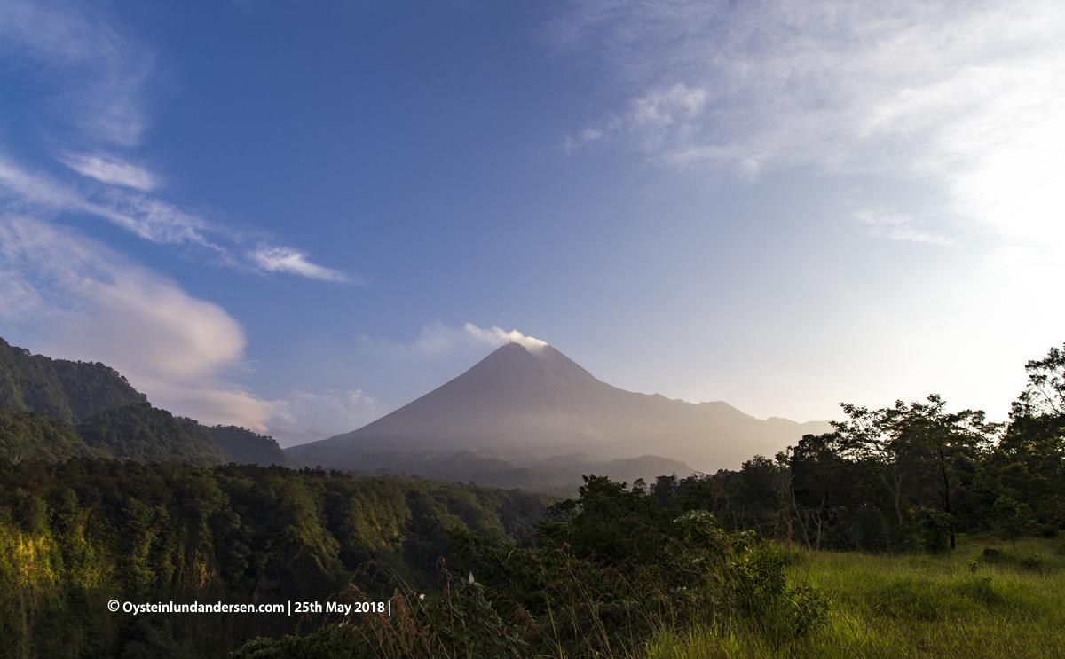 Merapi volcano May 2018 Indonesia Yogyakarta