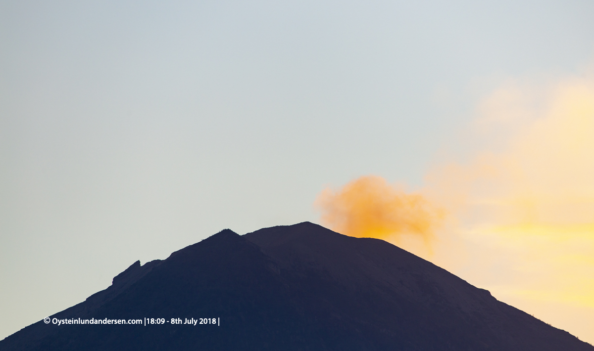 Agung Volcano eruption 2018 July Bali Indonesia Ash Plume Column