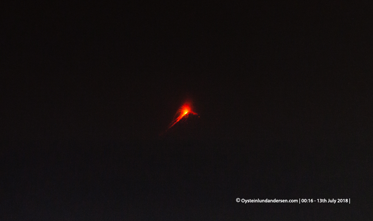 Krakatau july 2018 eruption night anyer sound booming Indonesia anak-krakatau